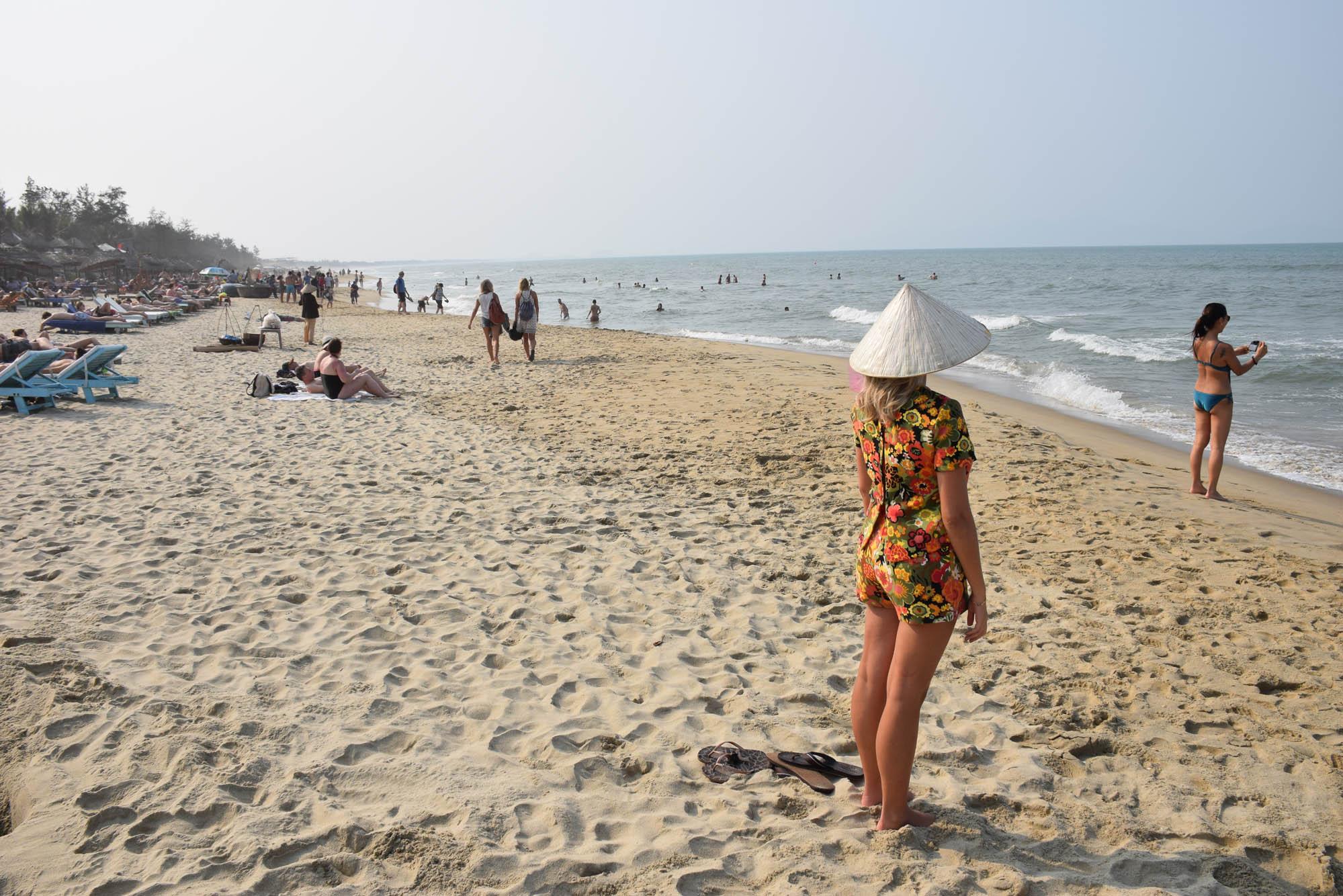 A praia pertinho de Hoi An