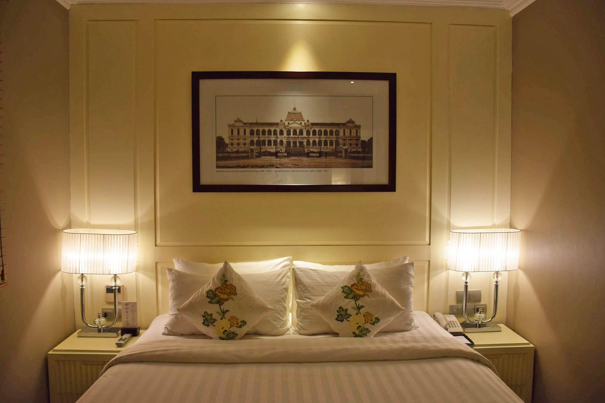Nosso quarto no Silverland Jolie Hotel & Spa