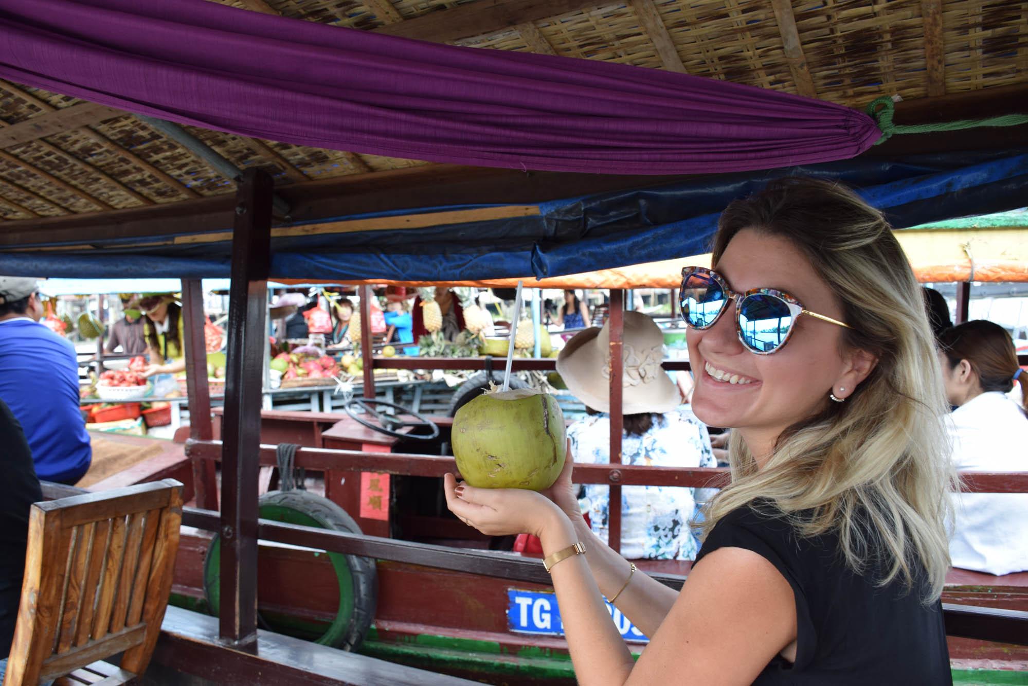 Floating Market em Cai Be, Delta do Rio Mekong