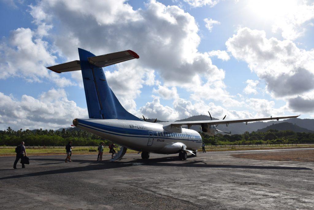 Aeronave da AirSwift no aeroporto de El Nido