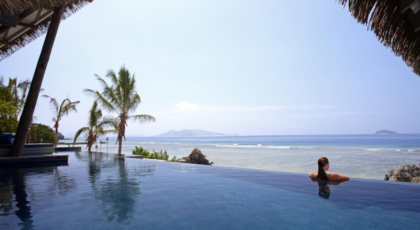Piscina do Tadrai Island Resort, em Fiji | foto: divulgação