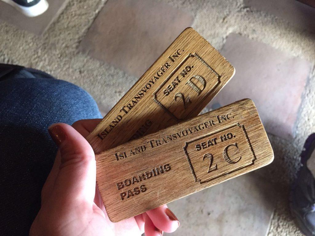 Cartões de embarque BEM rústicos! | Aeroporto de El Nido