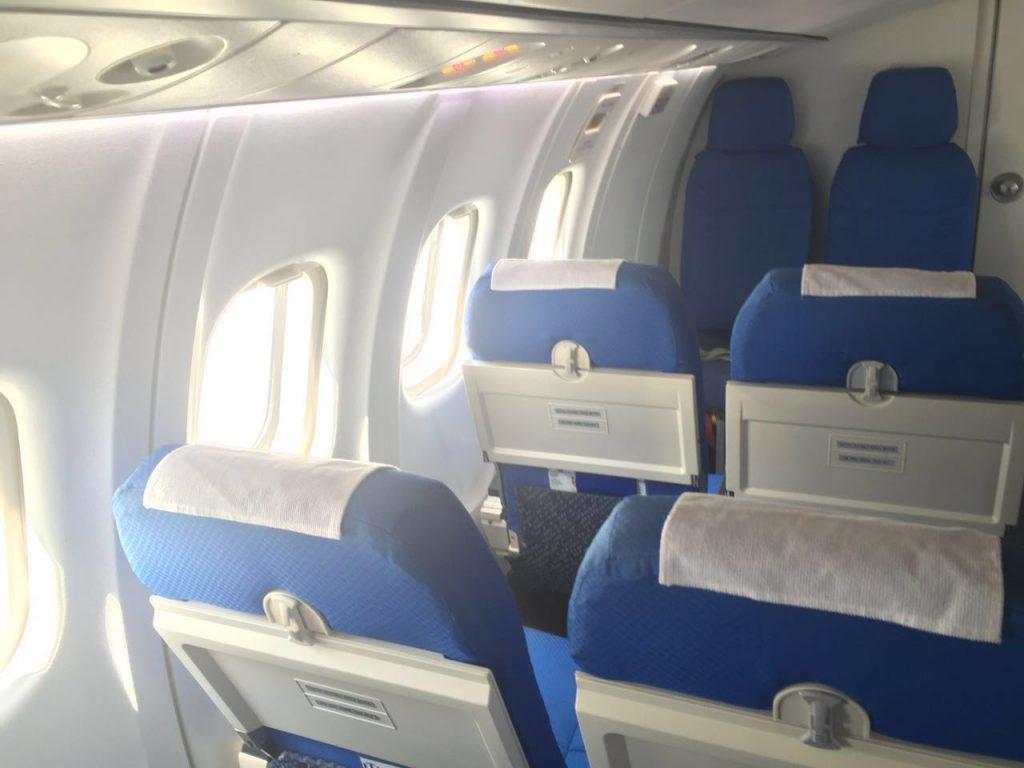 Interior da aeronave da AirSwift