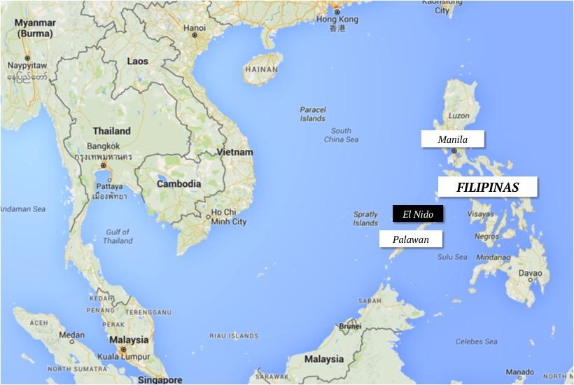 mapa filipinas el nido palawan onde fica dicas como chegar