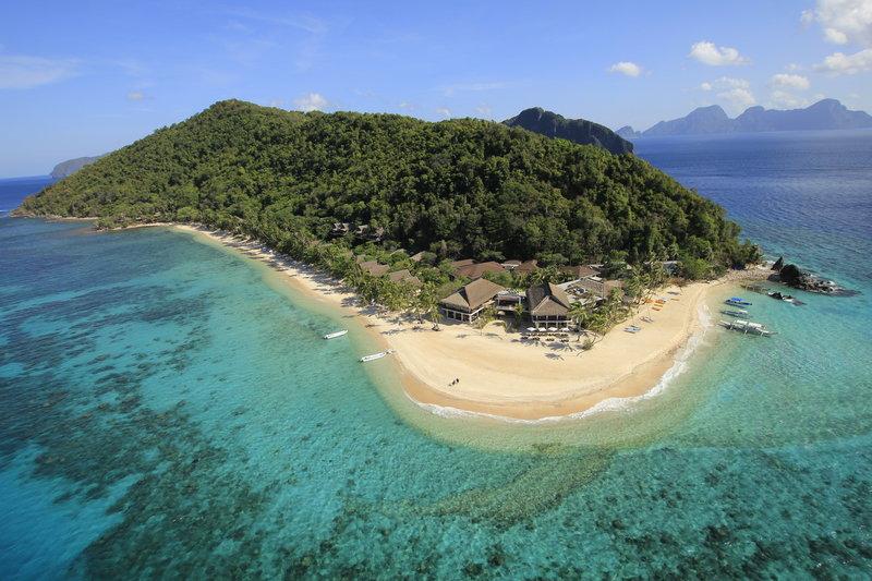 Vista aérea do Pangulasian Island Resort | foto: divulgação