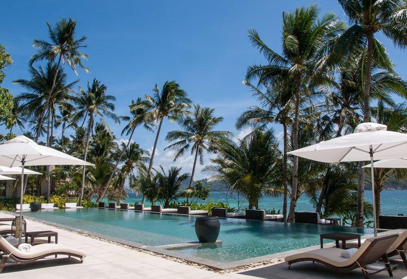 Piscina do Pangulasian Island Resort | foto: divulgação