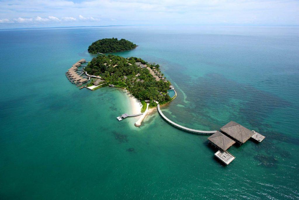 Vista aérea do Song Saa Private Island, em Koh Rong, Camboja | foto: divulgação