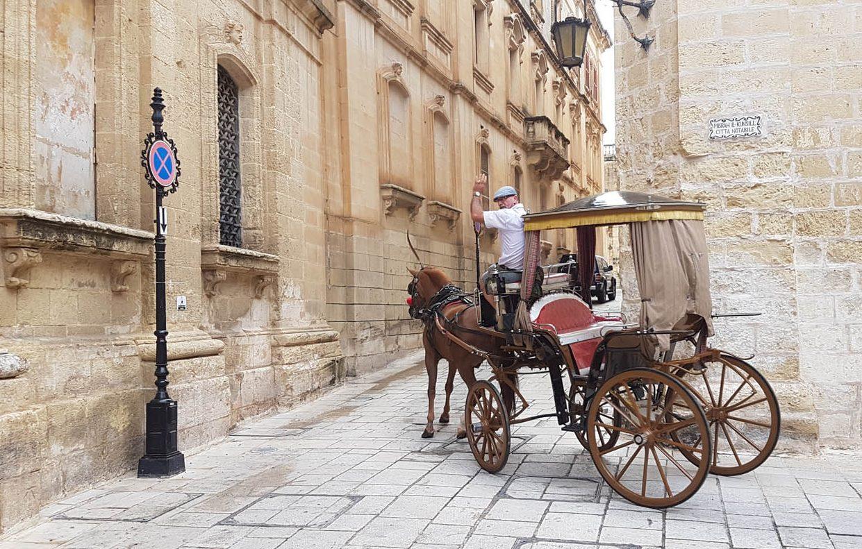 Passeio de charrete para turistas | Mdina - Malta