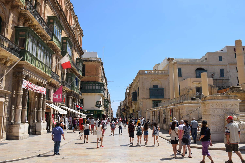 Republic Street - uma das principais ruas de Valletta