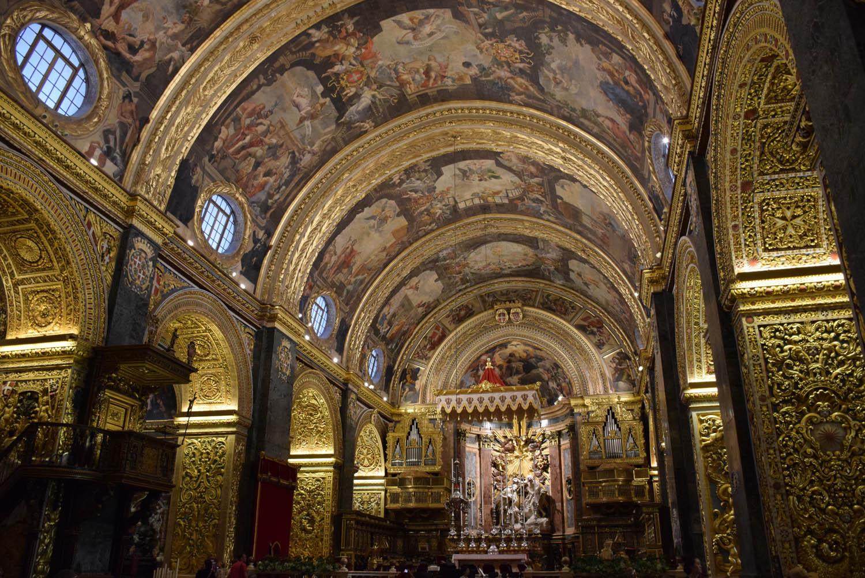 Por dentro é MARAVILHOSA!!! St. Paul's Co-Cathedral em Valletta, Malta