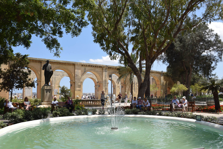 Upper Barrakka Gardens, em Valletta - Malta