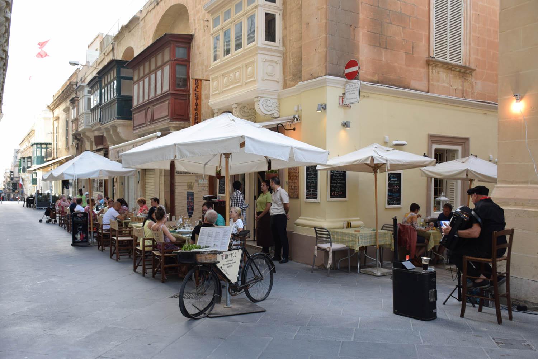 Restaurante D'Office Bistro em Valletta, Malta