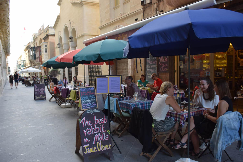 Restaurante Angelica, em Valletta - Malta