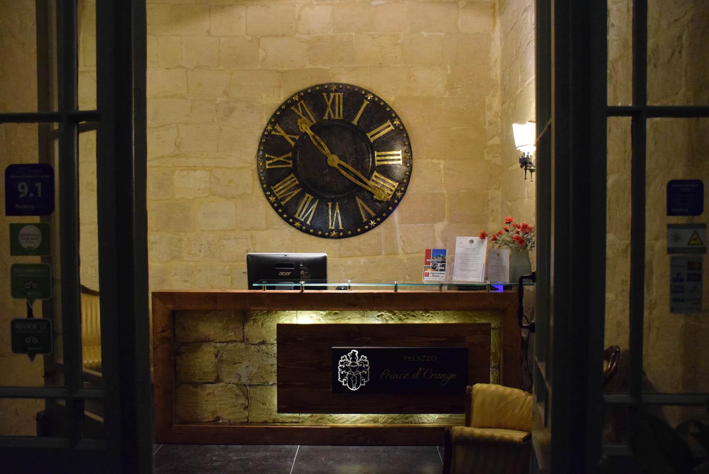 Recepção - Hotel Palazzo Prince d'Orange - Valletta - Malta