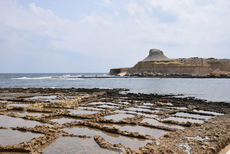 Salinas de Qbajjar - Salt Pans - em Gozo, Malta