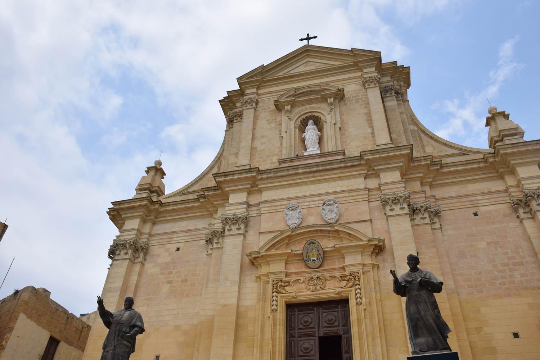 Uma das 365 igrejas de Malta - Catedral de Gozo, na Cittadella