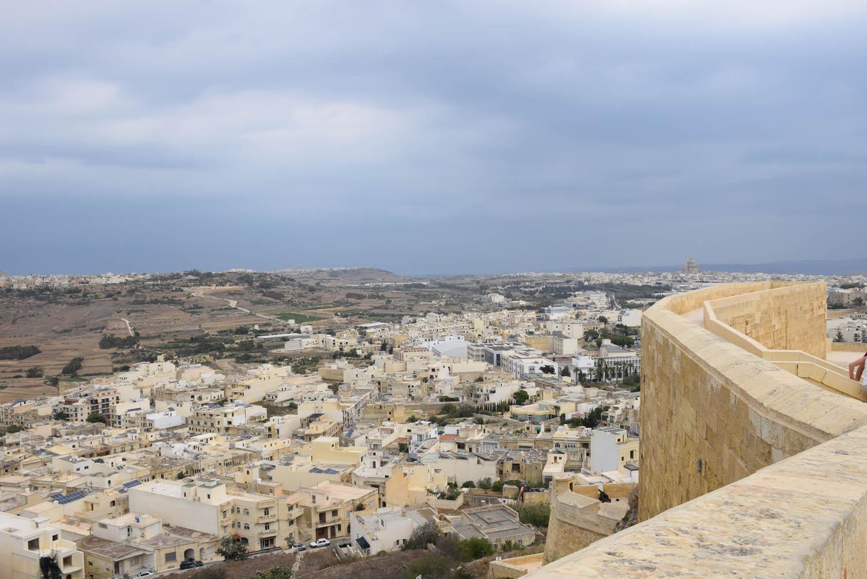 De lá de cima da Cittadella, é possível ter uma super vista de Gozo!