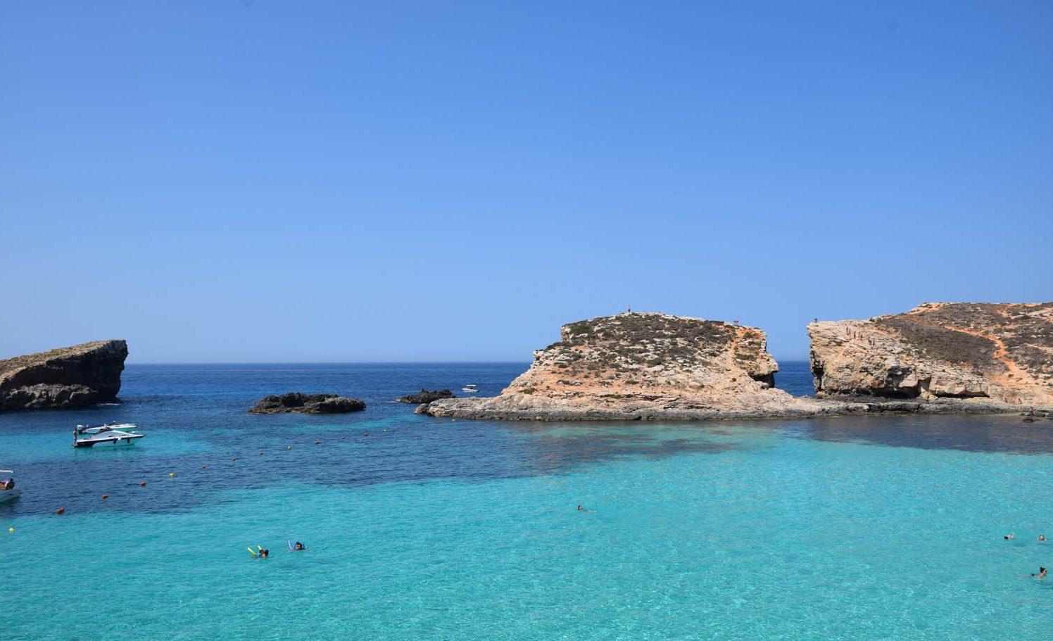 Dia MUITO azul em Malta - Blue Lagoon - Comino | Junho/2016