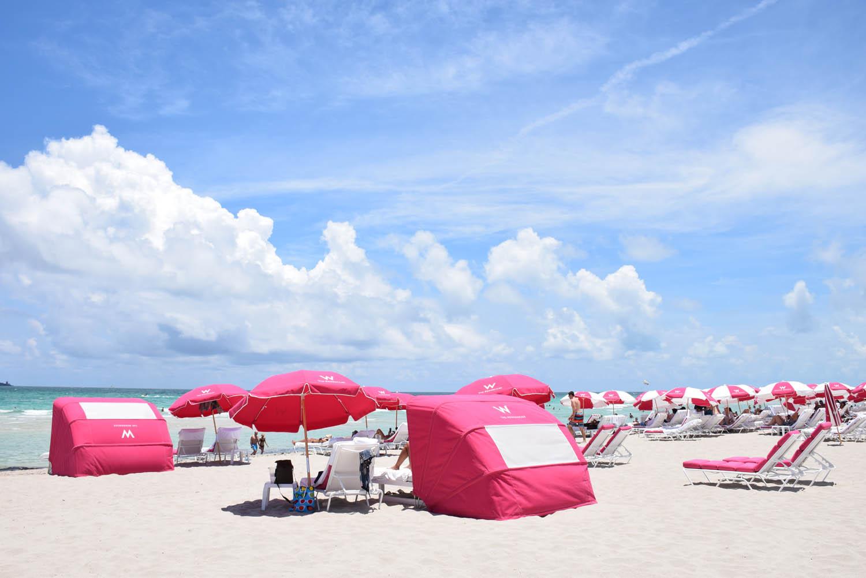 Estrutura de praia do hotel W South Beach, Miami Beach