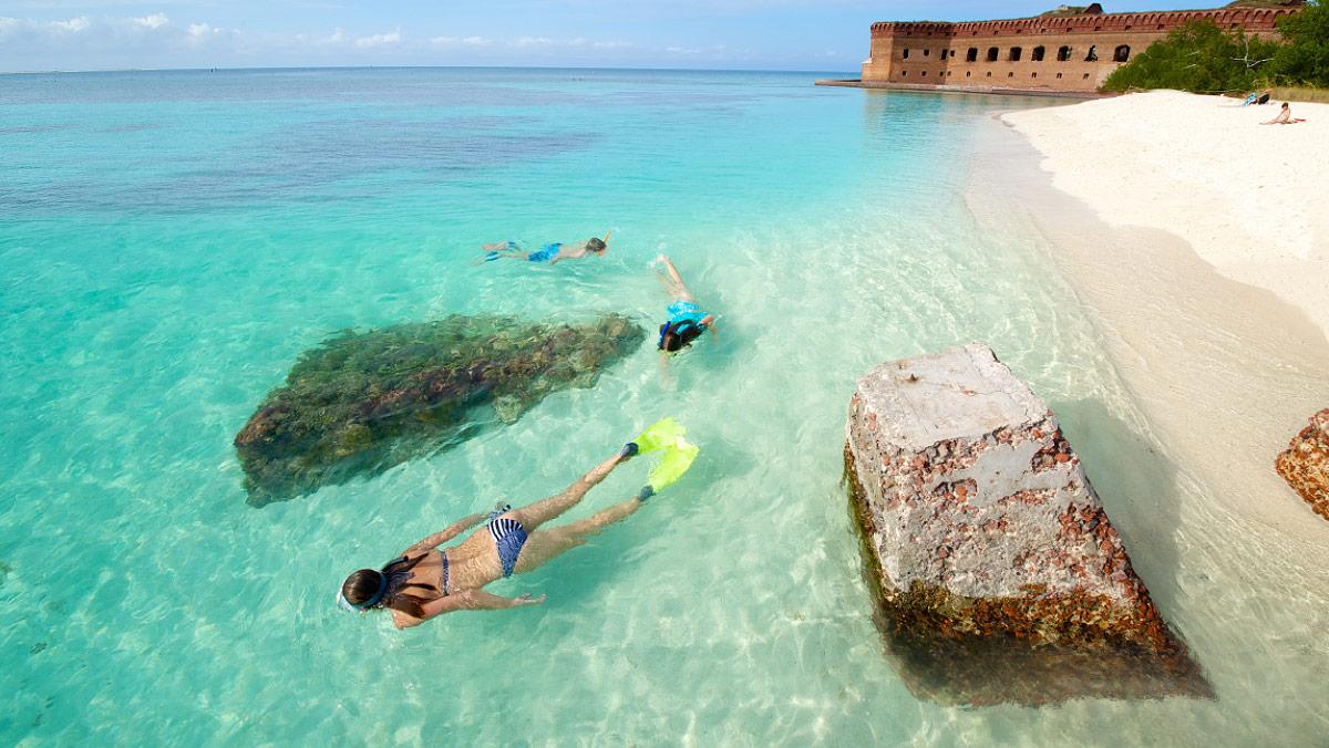 Snorkel no Dry Tortugas National Park, em Key West | foto: divulgação