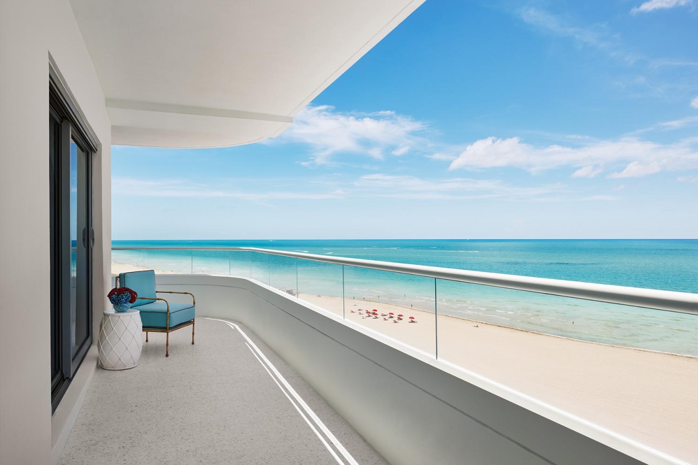 Vista do terraço de uma das suítes do Faena Hotel, em Mid-Beach, Miami Beach
