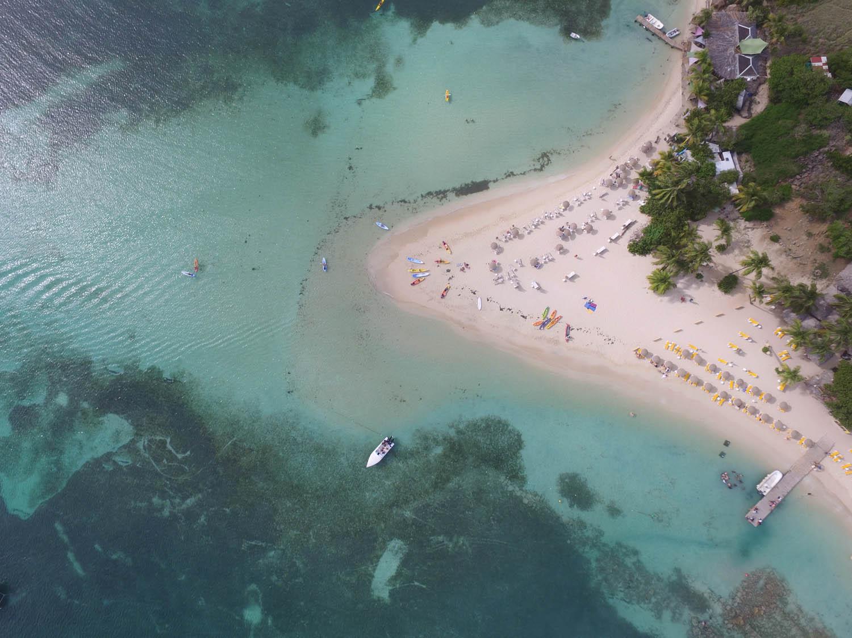 Pinel Island, em St. Martin, vista de cima