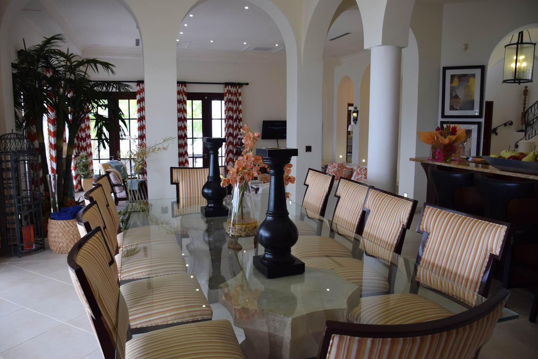 Ainda dentro da sala da Villa Sucrier no Belmond La Samanna Hotel, St. Martin