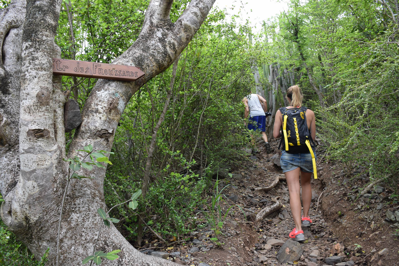 Início da trilha Sentier des Froussards