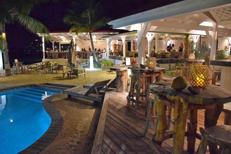 Restaurante e Hotel Le Shambala, em Grand Case - St. Martin