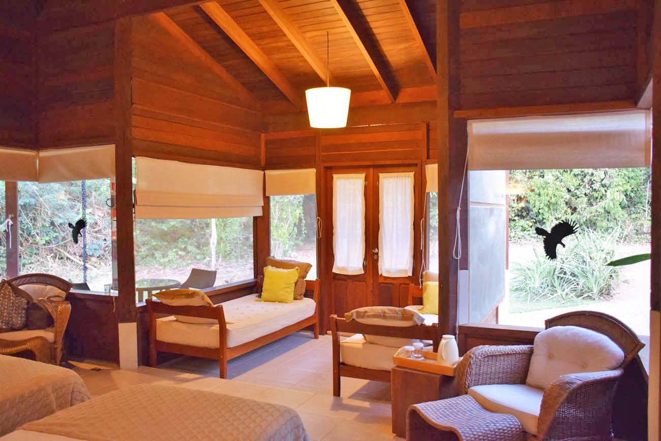 Bangalô com muita luz natural! Cristalino Lodge - Floresta Amazônica