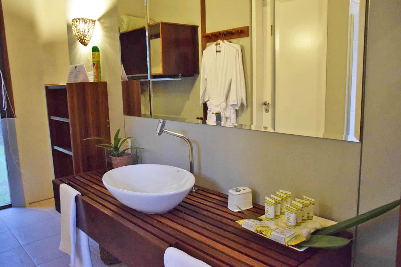 Banheiro do Bangalô - Cristalino Lodge - Floresta Amazônica