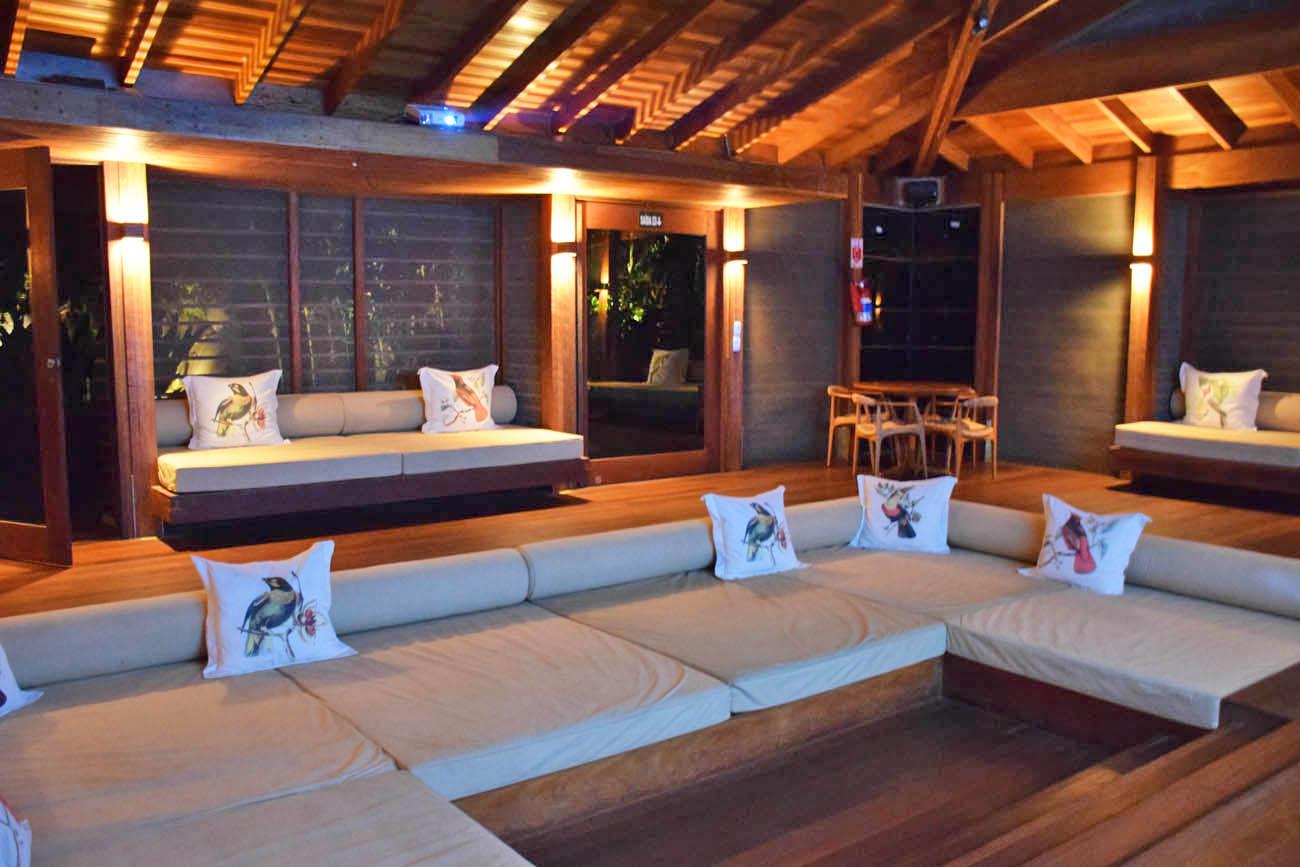 Sala de Conferência (bem confortável!!) - Cristalino Lodge - Floresta Amazônica