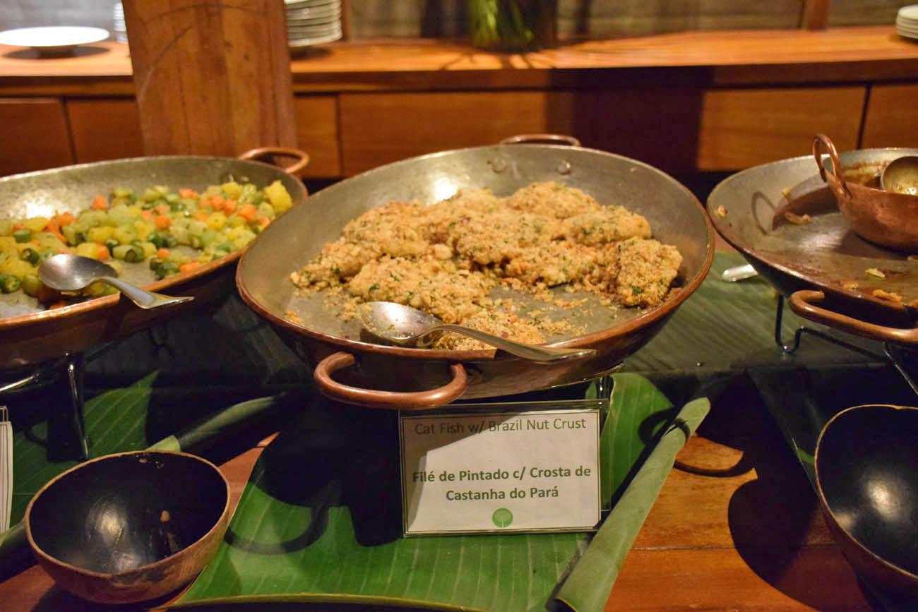 Um dos pratos do jantar - Cristalino Lodge - Amazônia