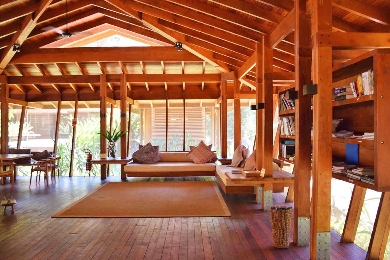 Sala de Leitura - Cristalino Lodge - Floresta Amazônica