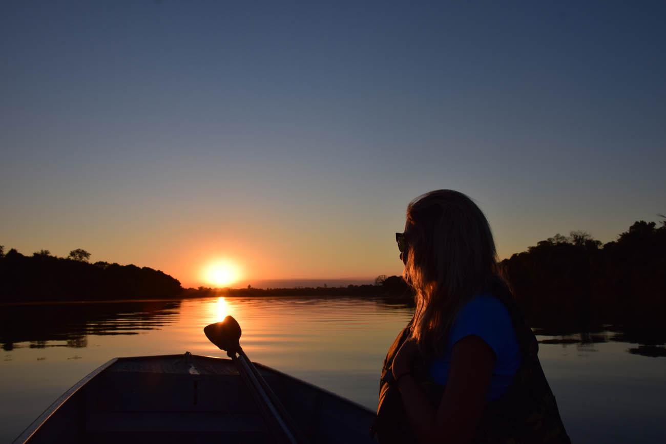 Pôr do sol no Rio Teles Pires - Cristalino Lodge - Floresta Amazônica