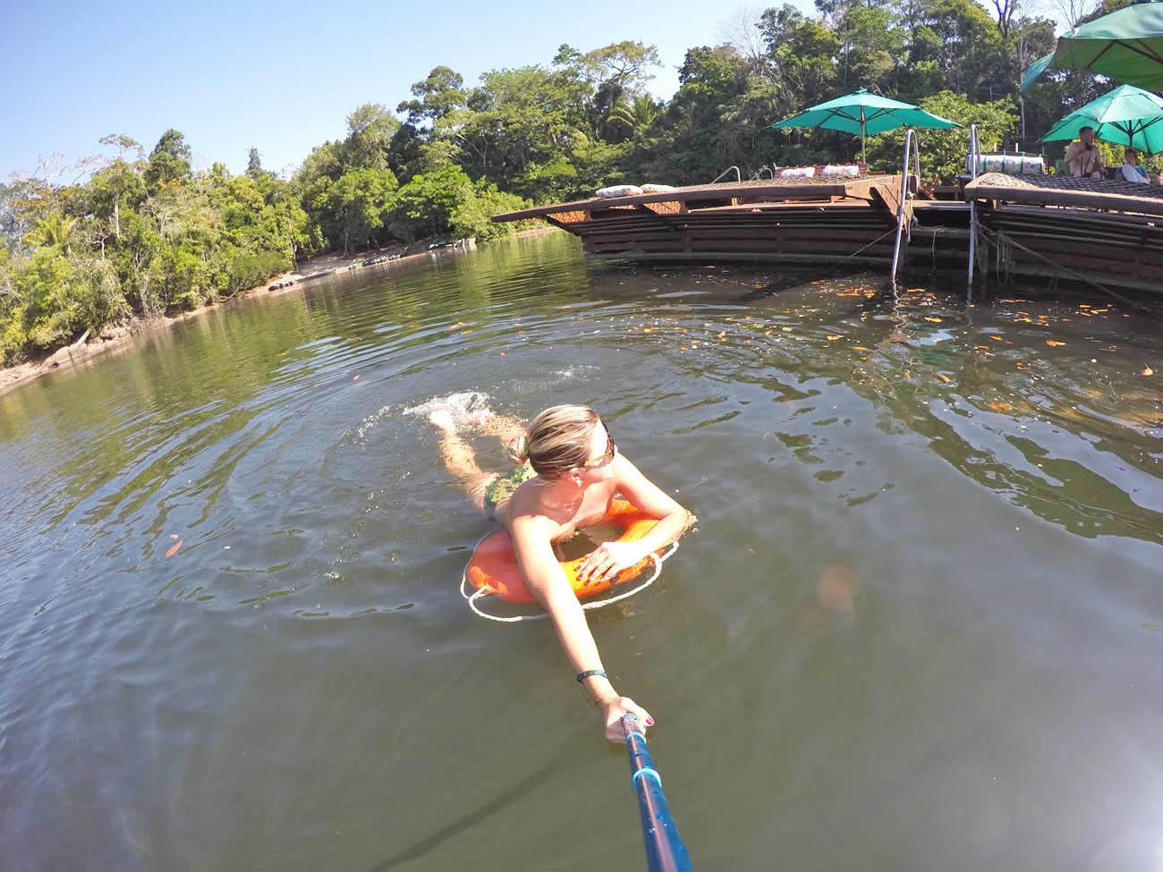 Nadando no Rio Cristalino - Cristalino Lodge