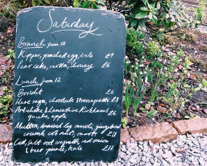 Menu do dia no The Gardener's Cottage - Edimburgo | foto: divulgação