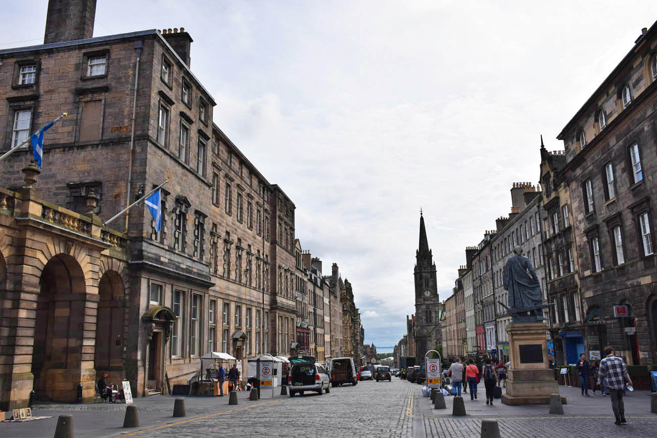 Royal Mile - a principal via do centro histórico de Edimburgo
