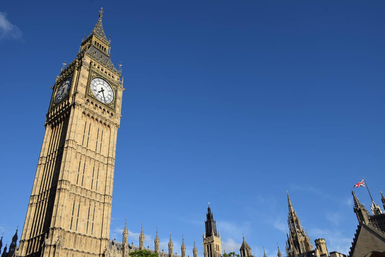 O icônico Big Ben, em Londres