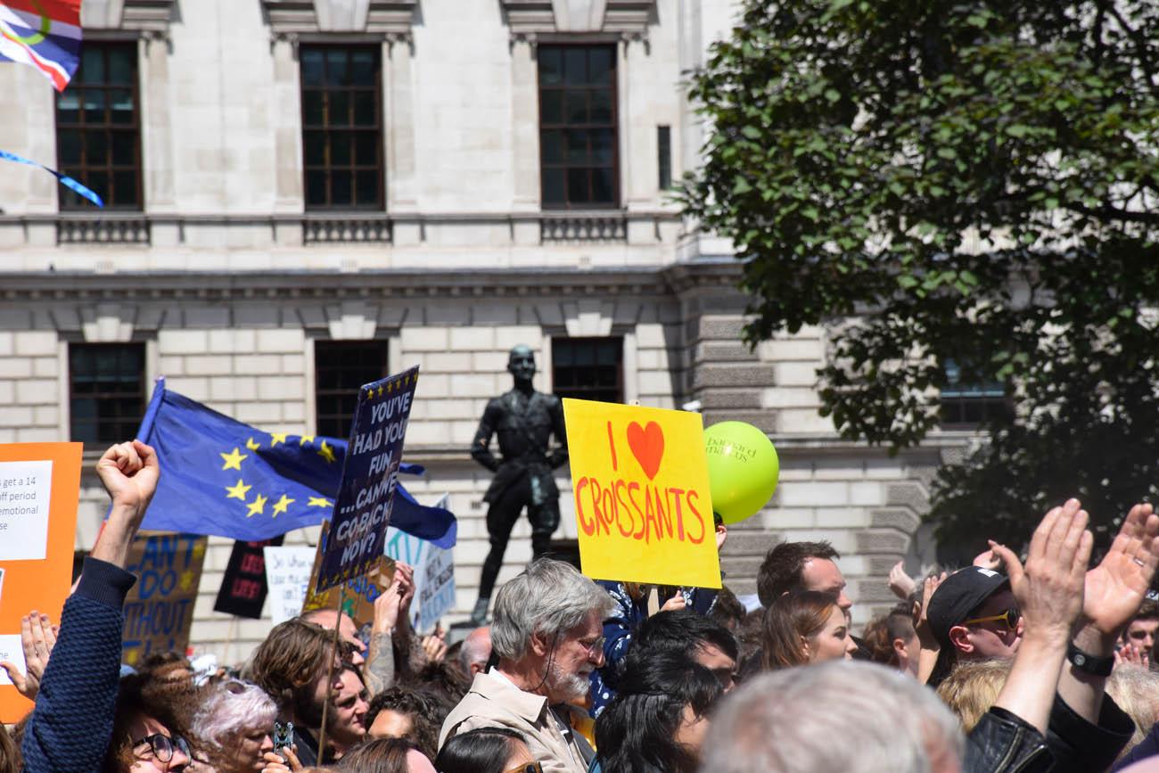 Dia de protesto contra o Brexit em Londres