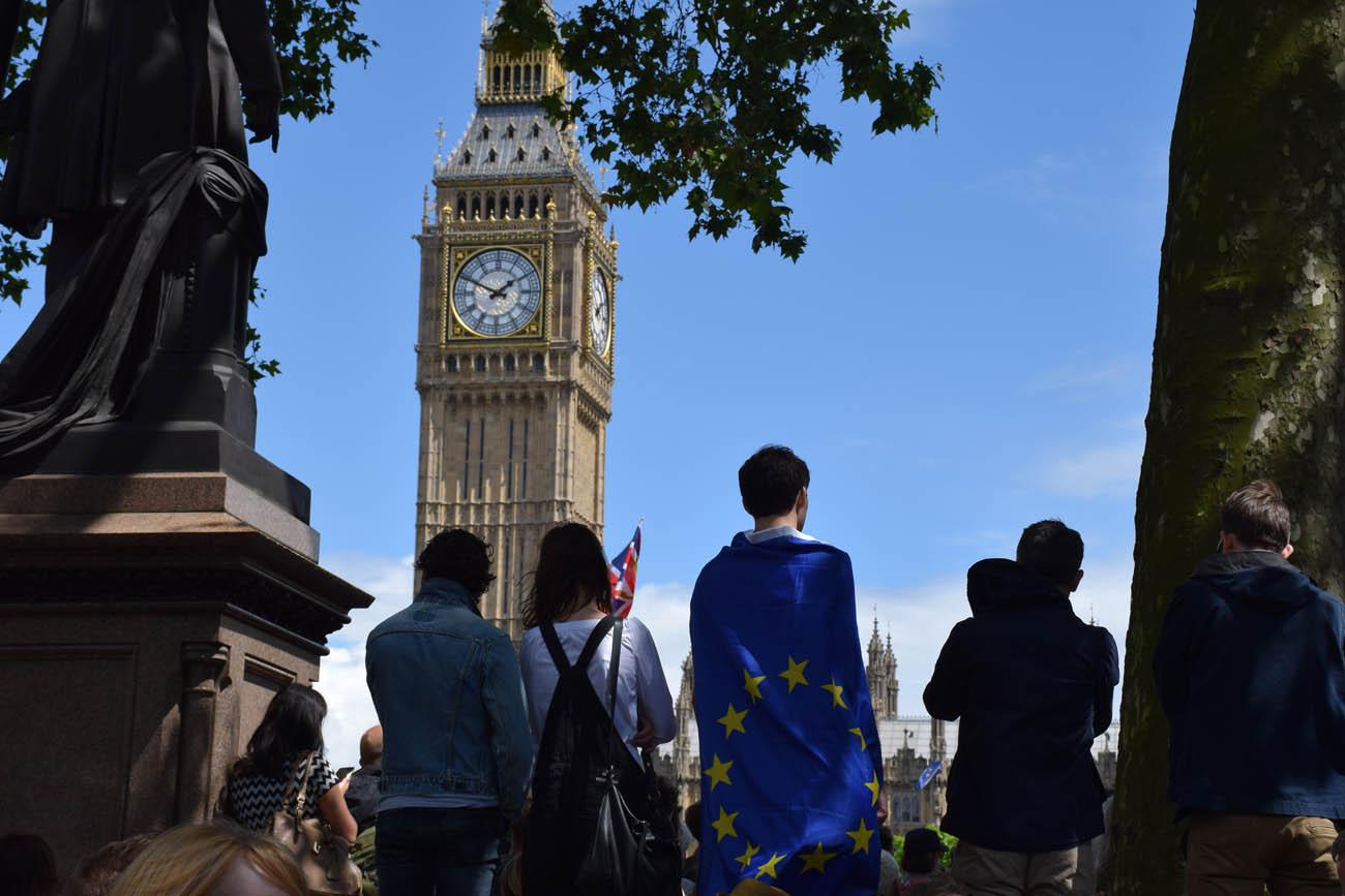 Protesto contra a saída de UK da União Européia