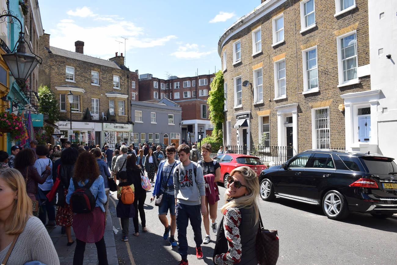 A caminho do Portobello Market em Notting Hill