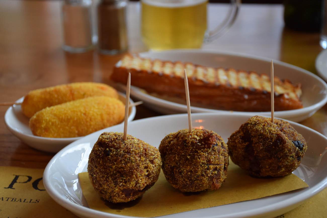 Meatballs + Potato & Parmesan Crocchette | POLPO Restaurant - Londres