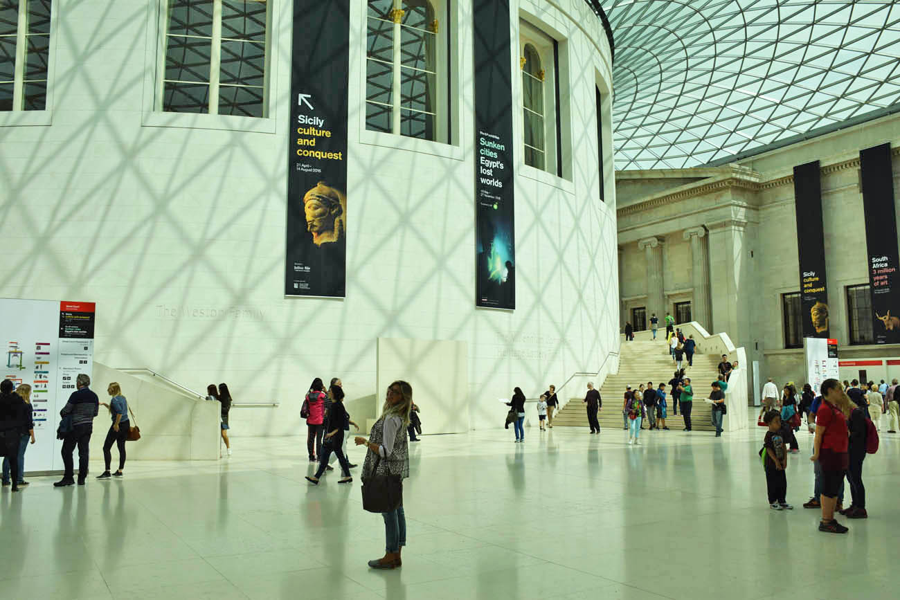 Interior do British Museum - Londres