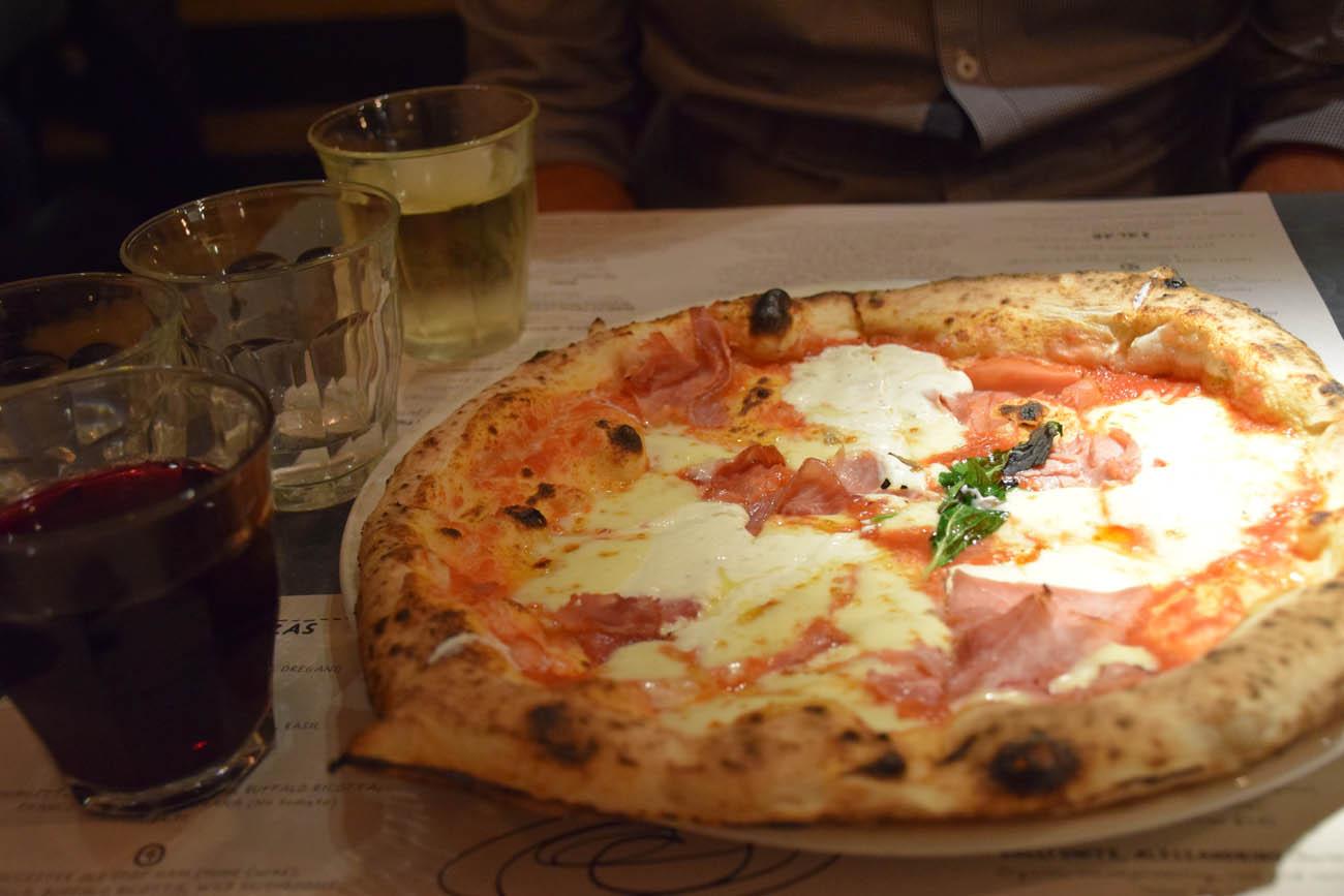 Pizza deliciosa da Franco Manca