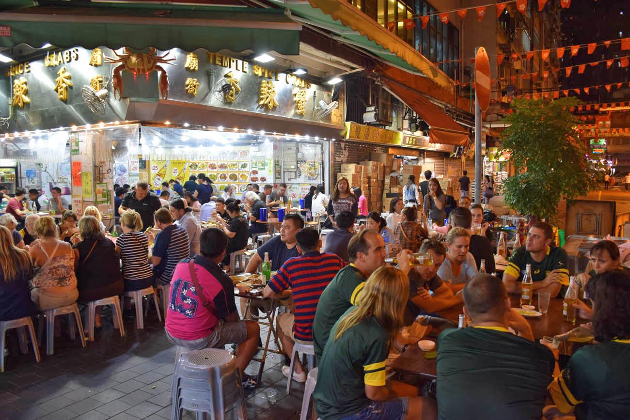 Restaurantes do Temple Street Night Market - Hong Kong