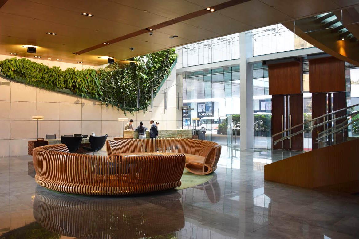 Lobby do Hotel ICON Hong Kong, em Kowloon