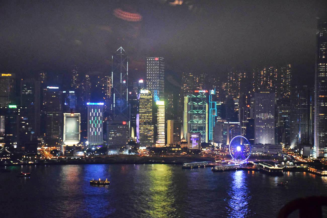 Vista do Restaurante Hutong, em Hong Kong