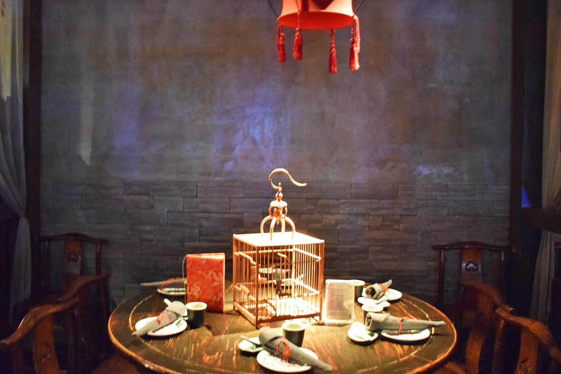 Decoração tradicional chinesa - Restaurante Hutong