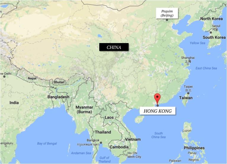 Hong Kong no mapa | fonte: Google Maps